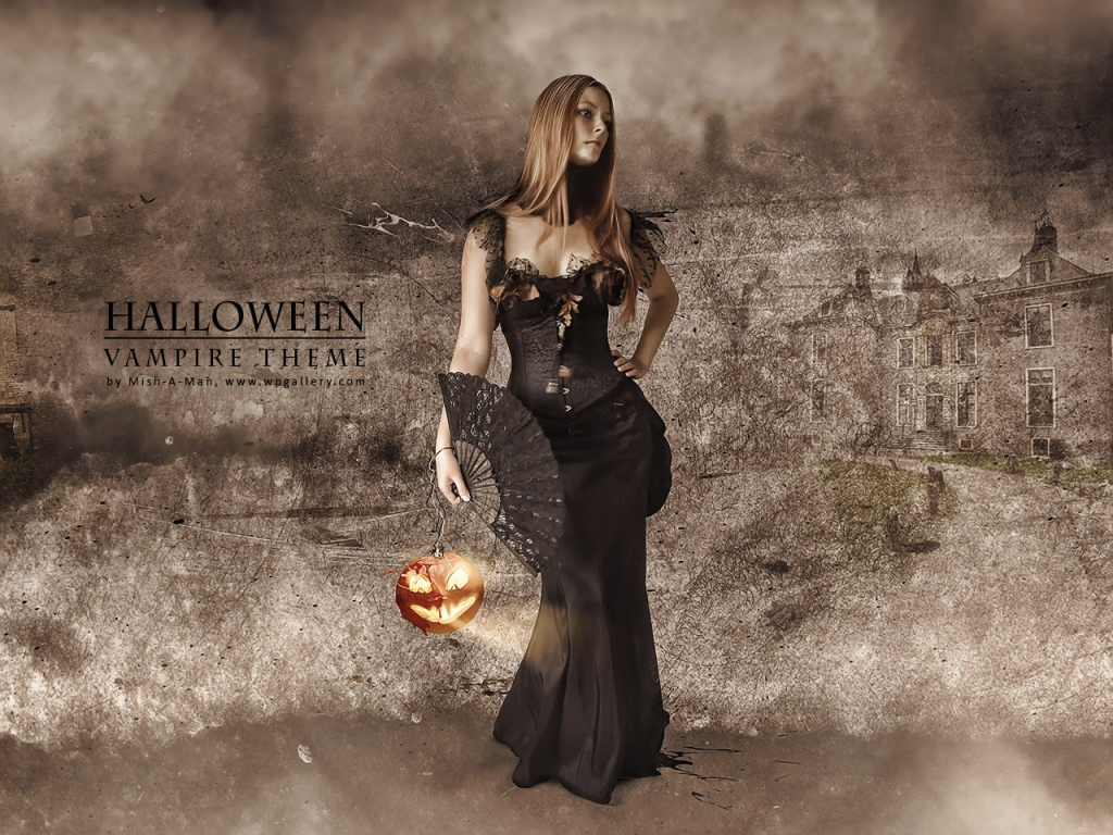 Halloween - Vampire theme for 1024 x 768 resolution