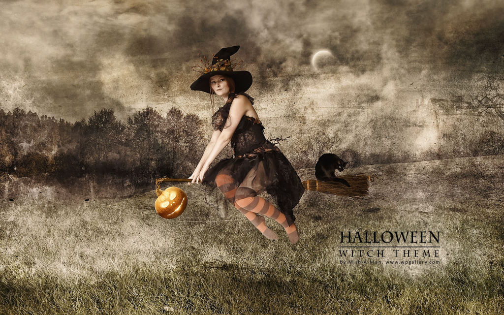 Halloween - Witch theme for 1024 x 640 widescreen resolution
