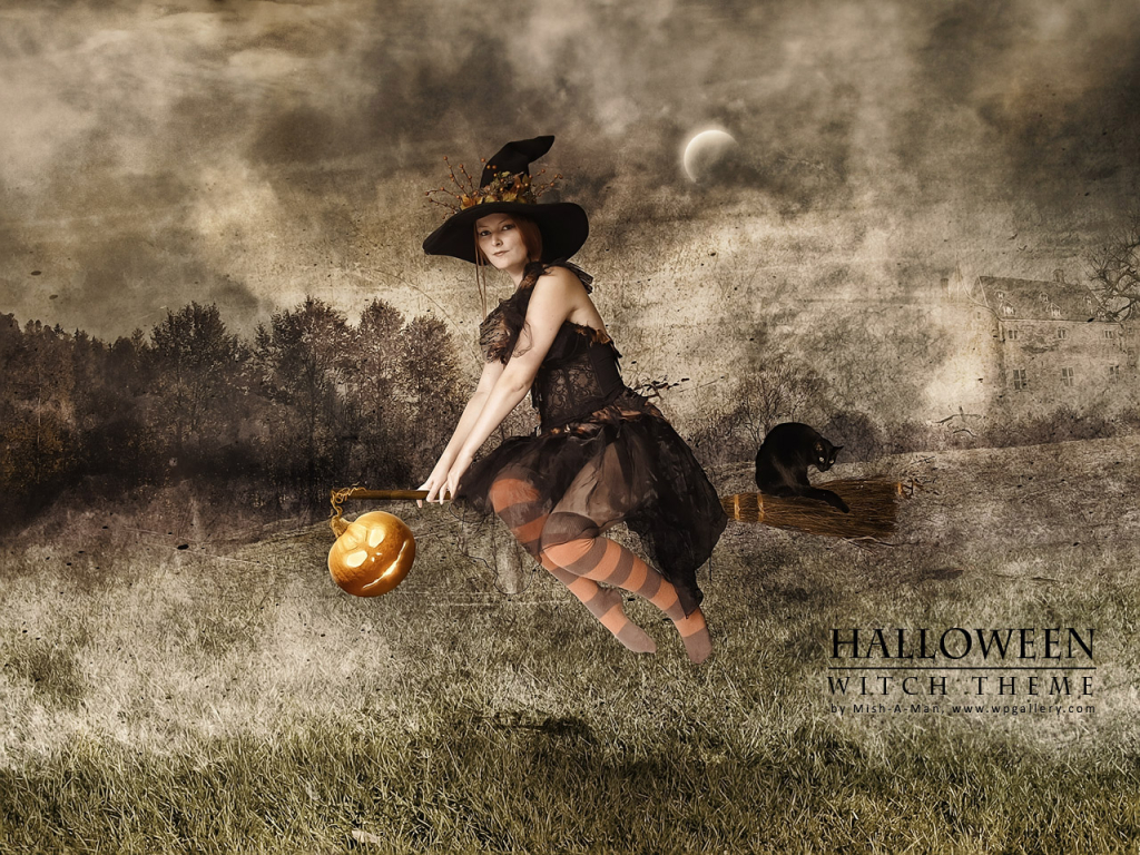 Halloween - Witch theme for 1024 x 768 resolution