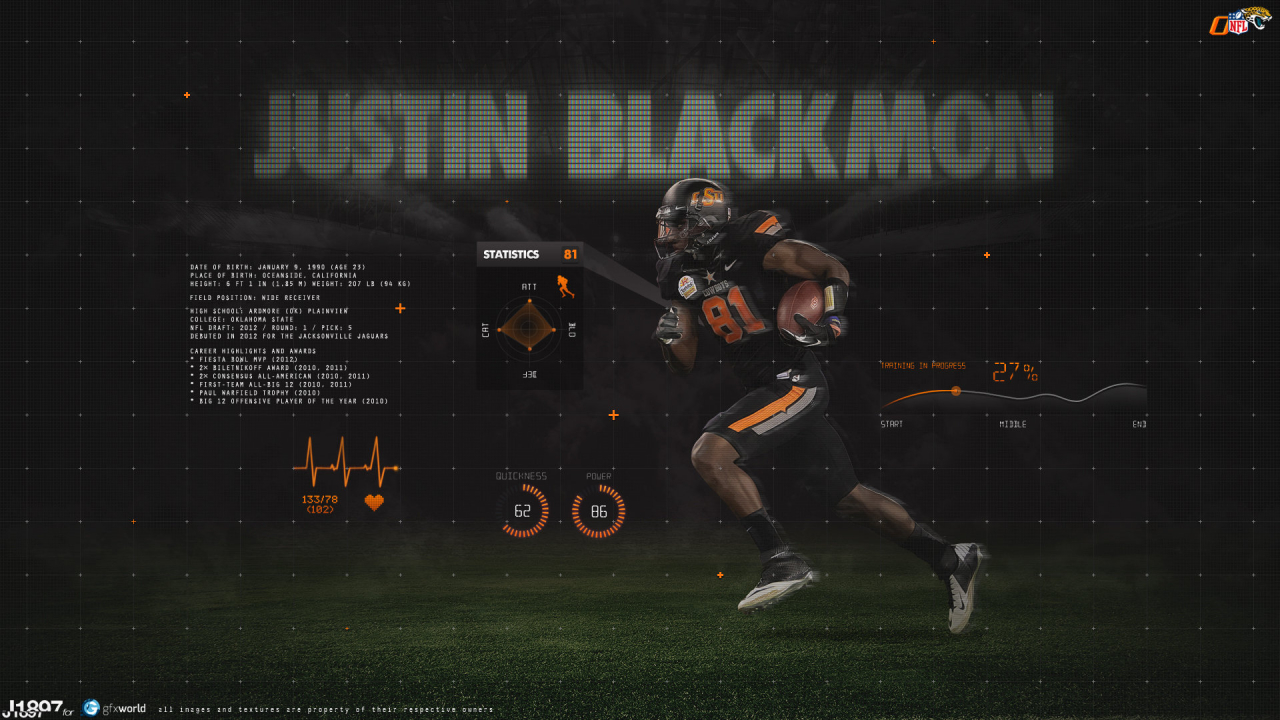 Justin Blackmon for 1280 x 720 HDTV 720p resolution