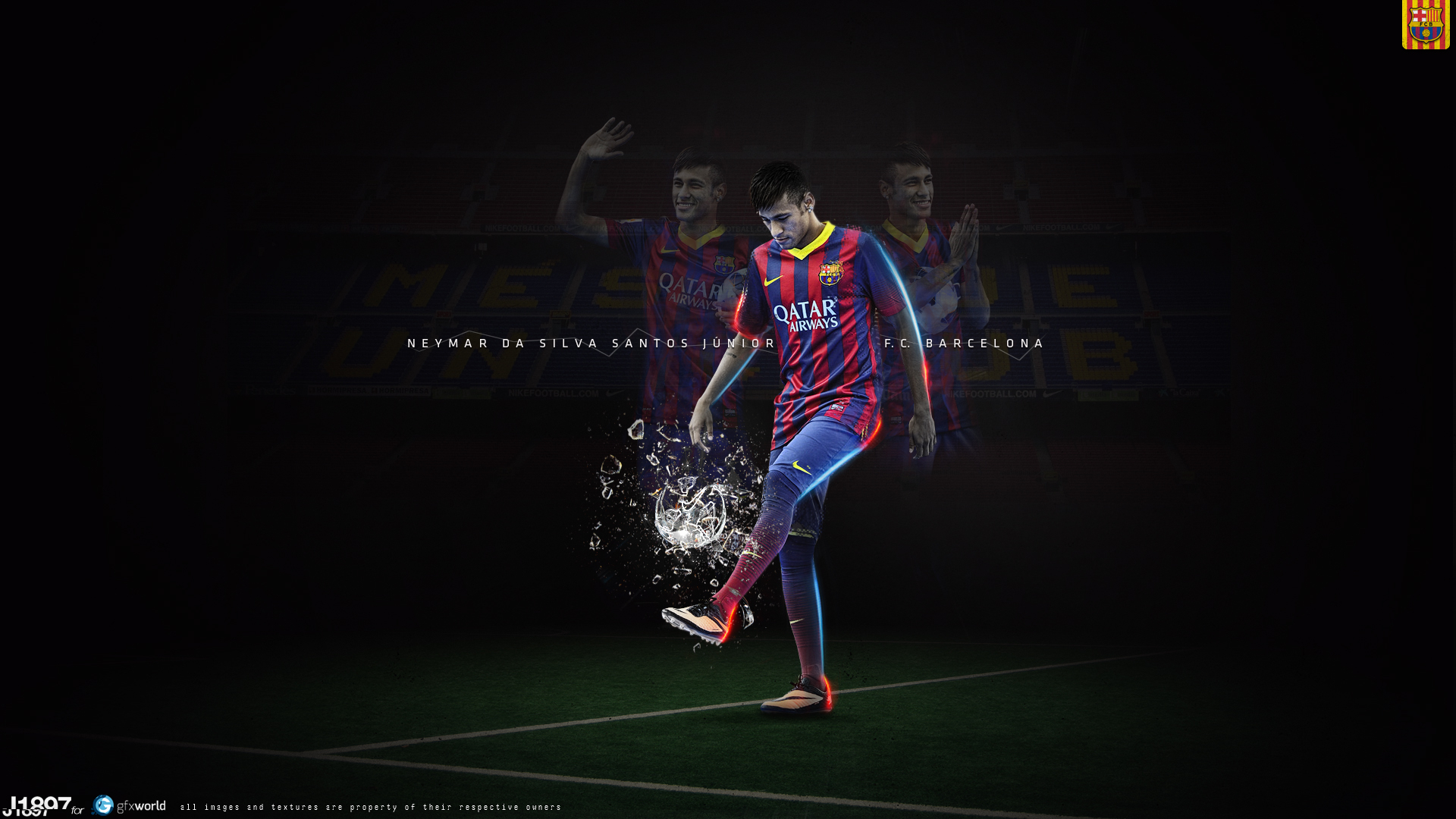 Neymar Jr. for 1920 x 1080 HDTV 1080p resolution