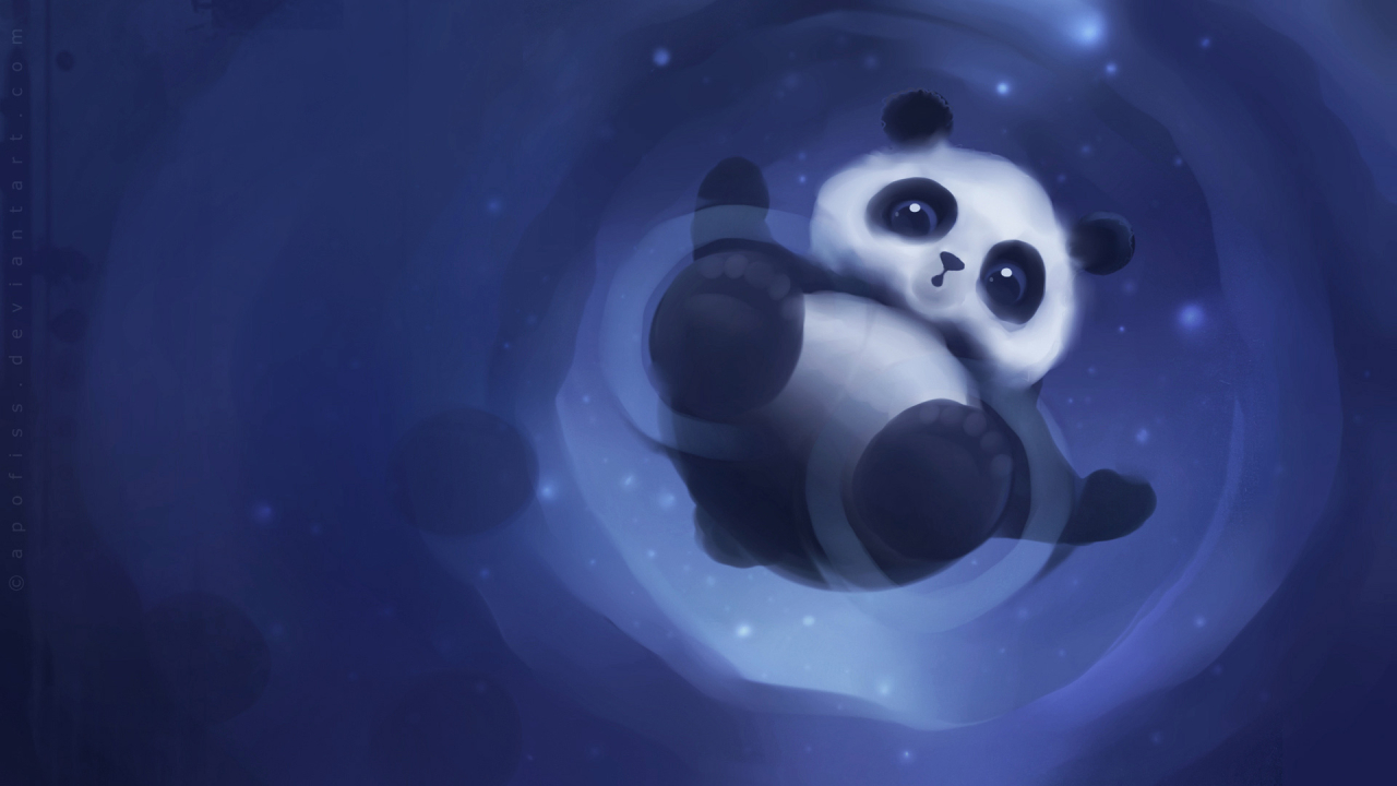 Panda Paper for 1280 x 720 HDTV 720p resolution