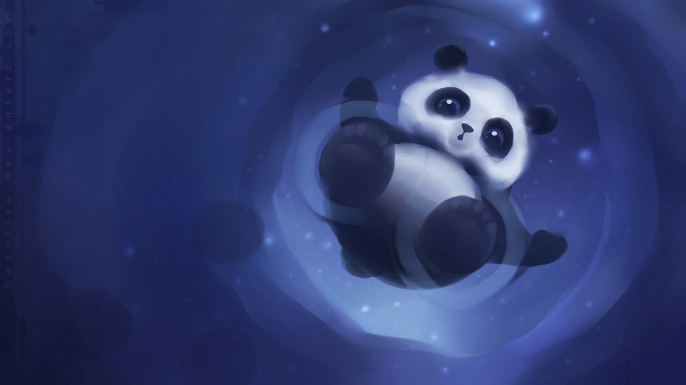 Panda Paper for 1366 x 768 HDTV resolution