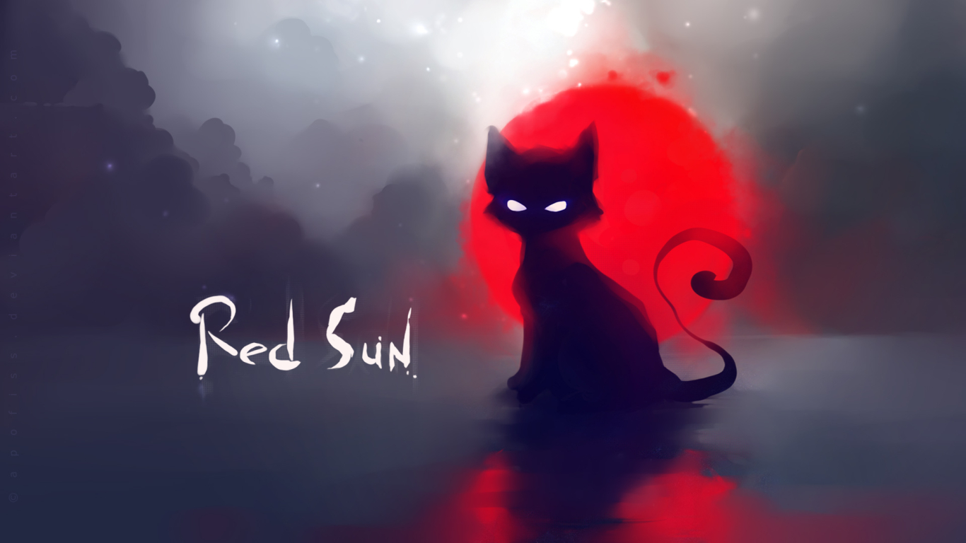 Red Sun for 1366 x 768 HDTV resolution