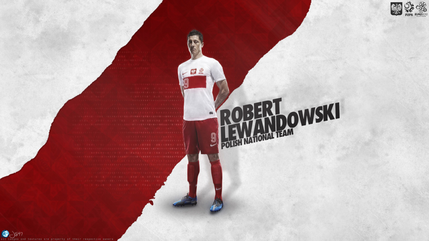 Robert Lewandowski for 1366 x 768 HDTV resolution